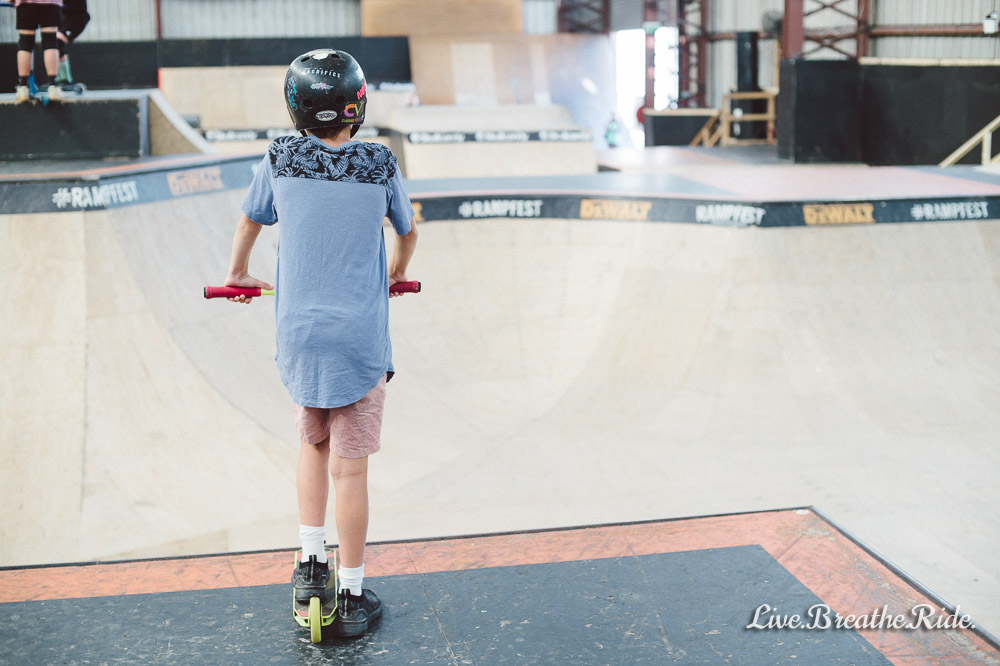 Ready to drop in the Rampfest Skate Bowl