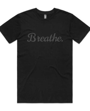 breathe T-shirt - Black on Black