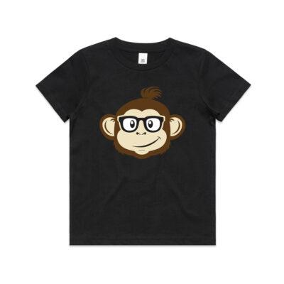 Where's Monkey Steve - Youth T-shirt - Black