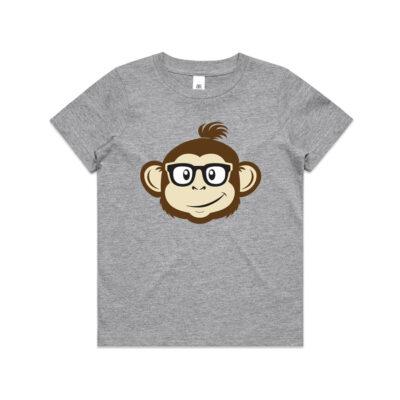 Where's Monkey Steve - Youth T-shirt - Grey Marle