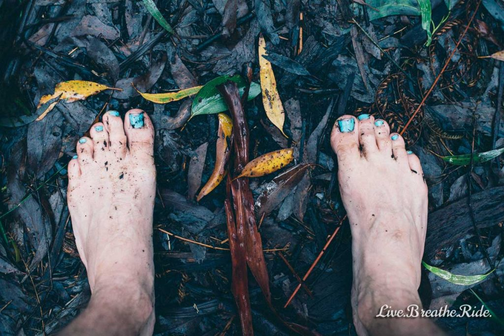 barefeet in the jungle