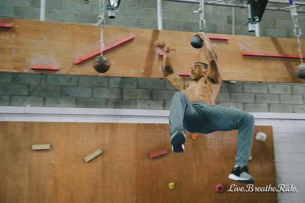 Kadeem Aarons competing Ninja at The Compound Training in Bayswater