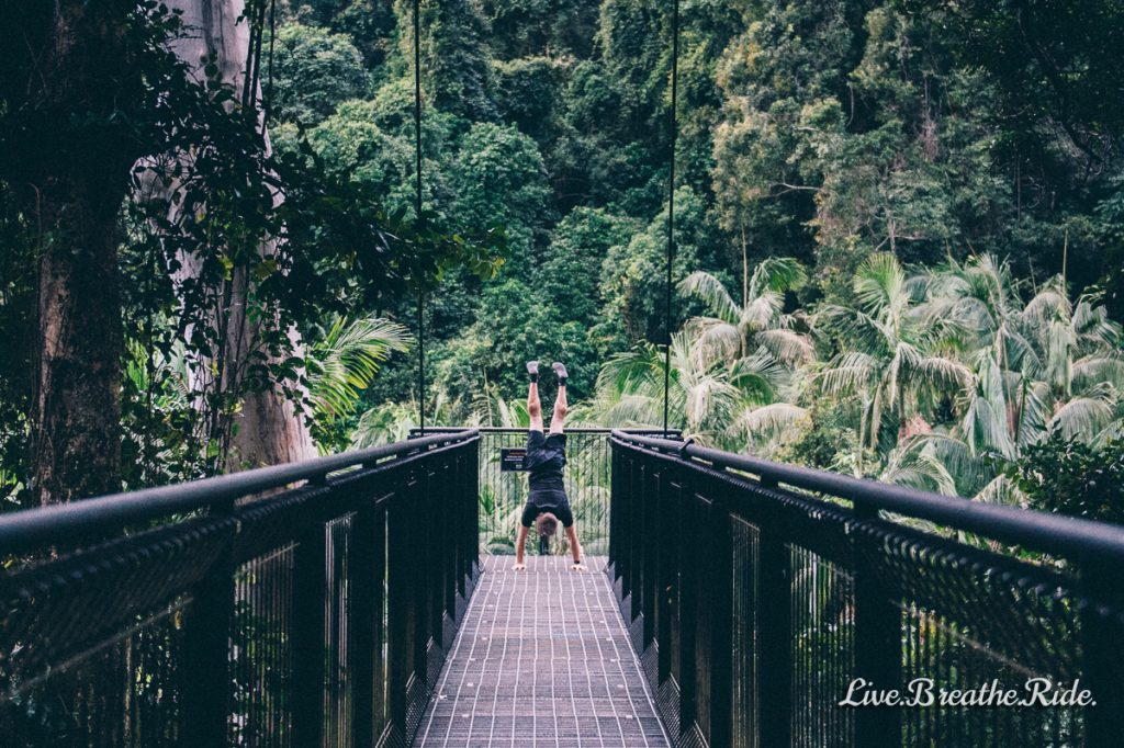 handstands in the jungle - keeping active to manage depression