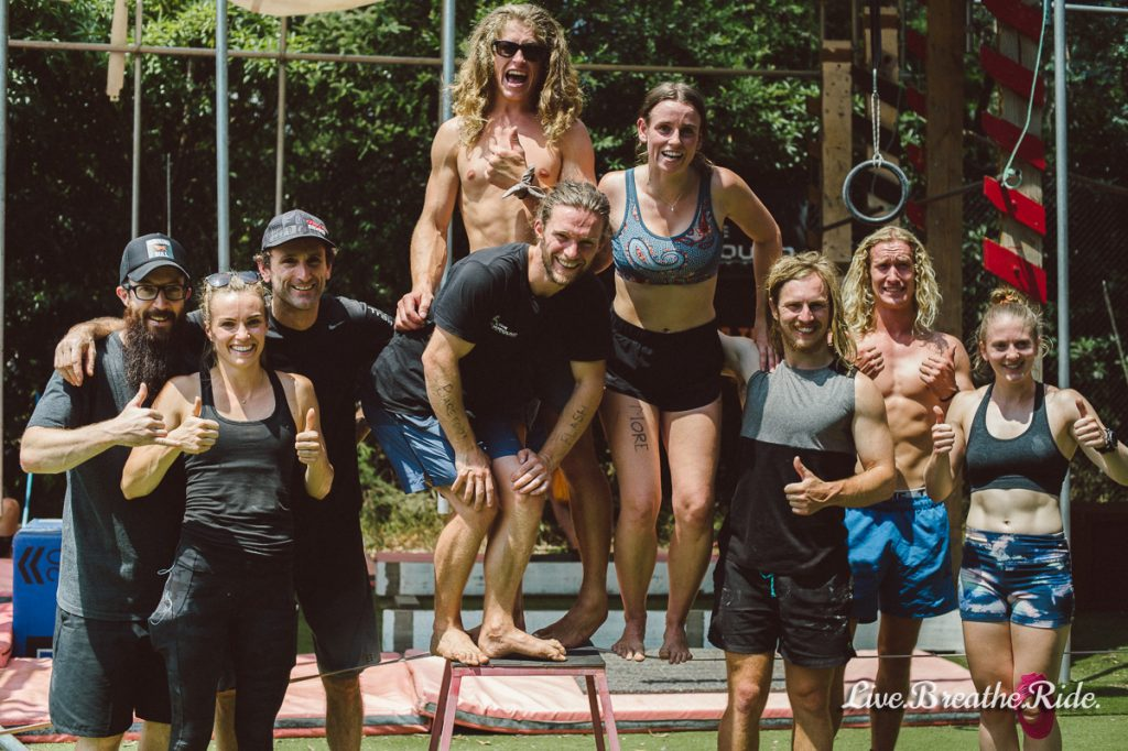 some of Australia's top ninja warriors at The Compound Training