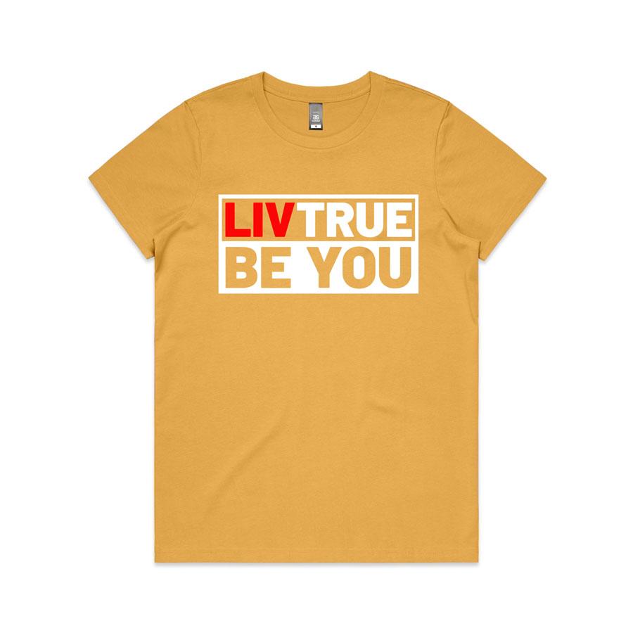 Liv-True-womens-T-shirt-mustard