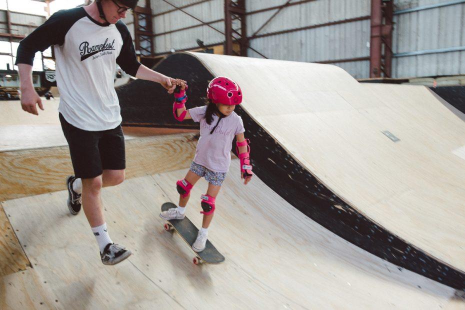 learning how to skate - rampfest skatepark melbourne