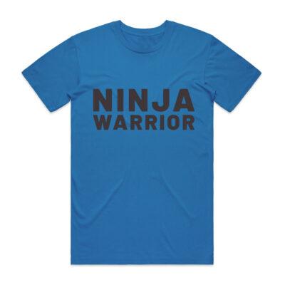 ninja warrior tee shirt blue