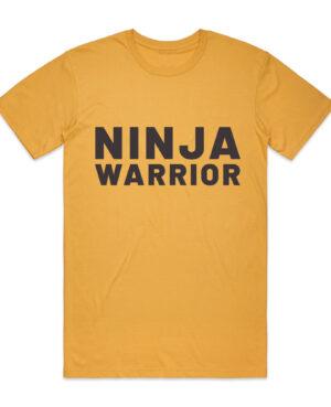 ninja warrior tee shirt yellow