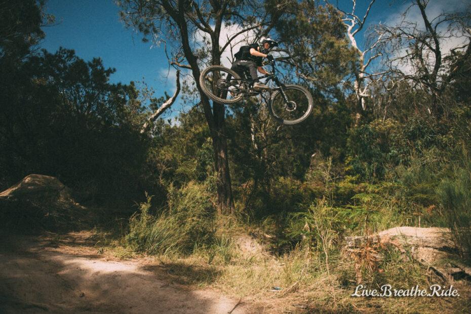 Zac Bradley - riding mountain bikes