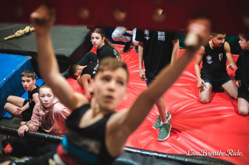 support for young athletes at kids ninja competitions