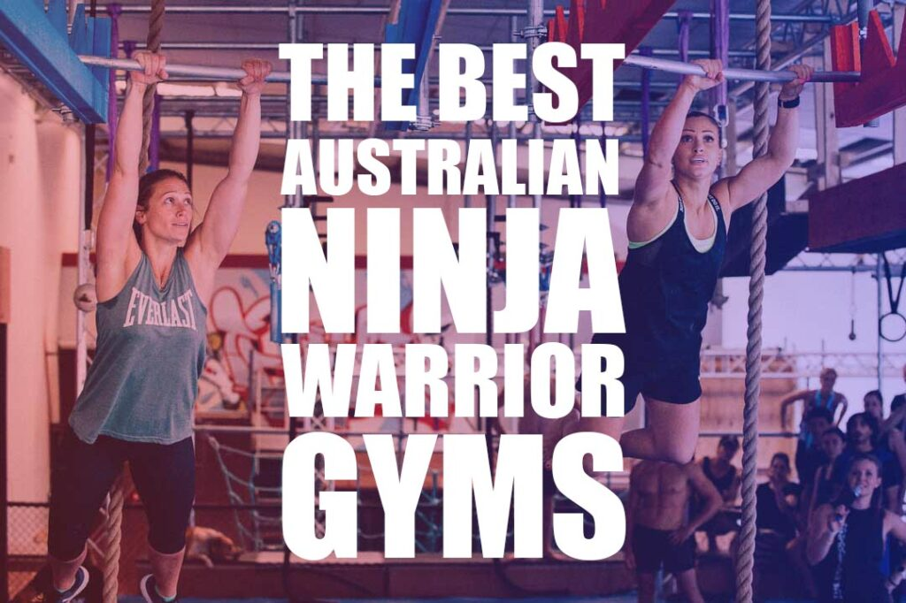 two female ninjas train for ninja warrior at one of Australia's best ninja gyms