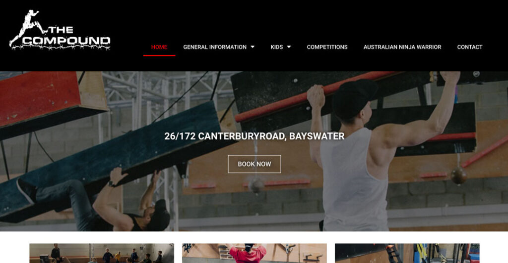 the compound training - train for ninja warrior in melbourne