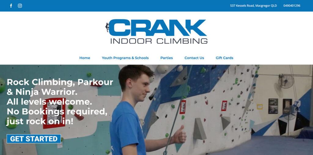 crank indoor climbing - ninja gym